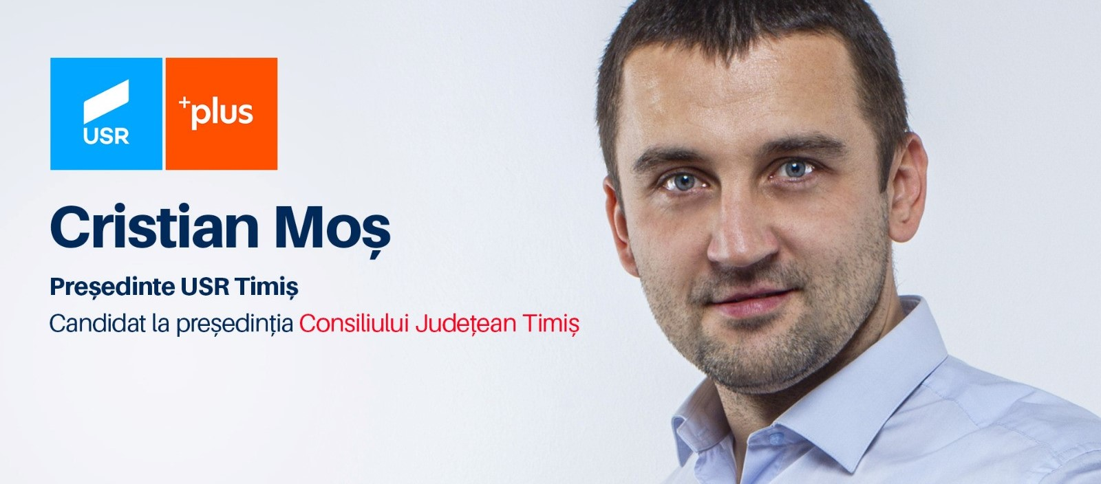 Cristian Moș USR PLUS Timiș Președinte Consiliul Județean
