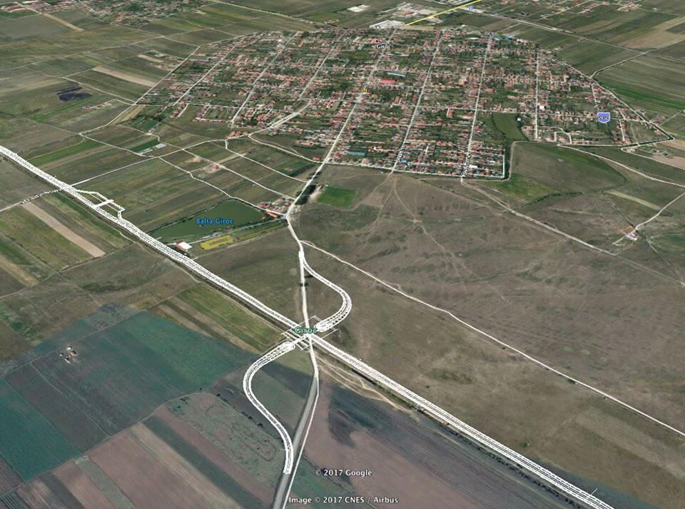Intersectie Centura Sud Timisoara Giroc