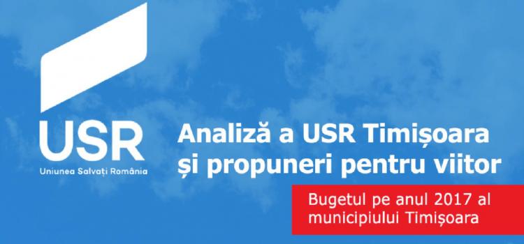 USR Timișoara analizează bugetul pe anul 2017 al Municipiului Timișoara