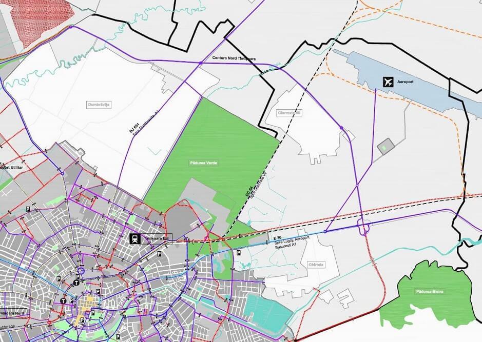 Conectarea aeroportului din Timisoara pe calea ferata