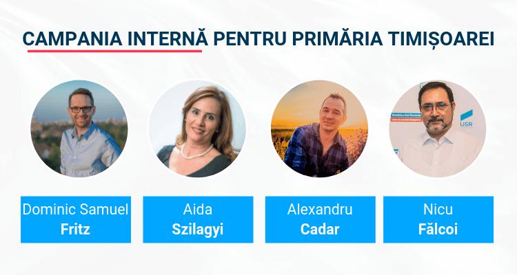 A început campania internă a USR pentru Primăria Timișoara