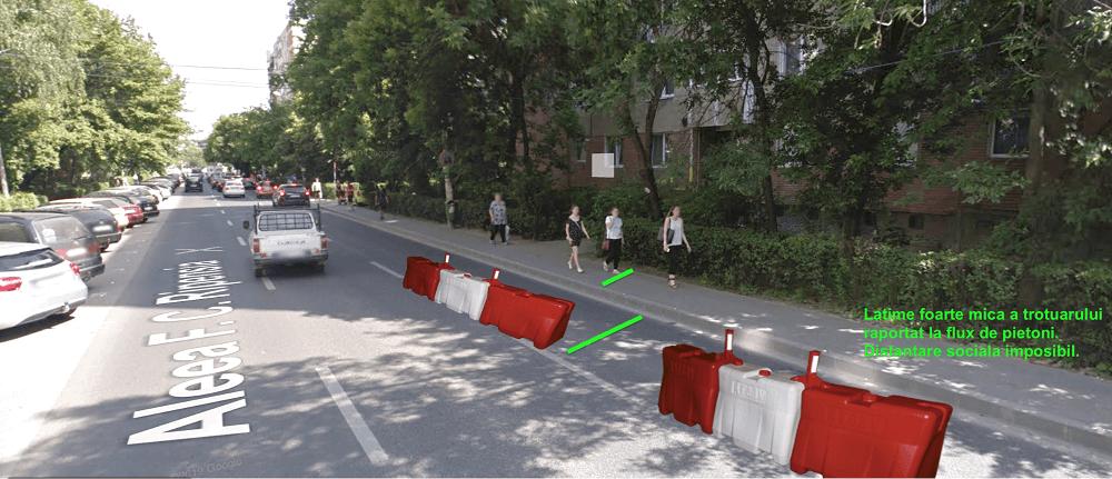 Timișoara - lărgirea unor trotuare