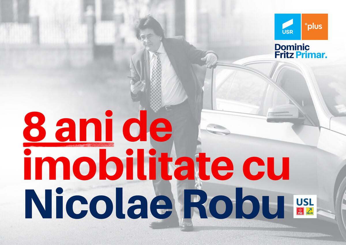 8 ani de imobilitate cu Nicolae Robu. Analiza transportului public din Timișoara.