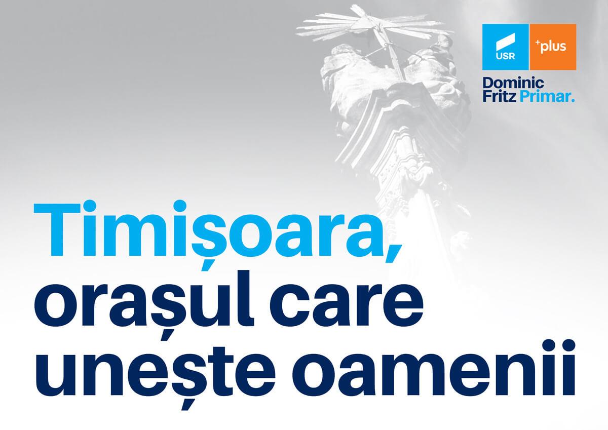 Timișoara, orașul care unește oamenii. Planul lui Dominic Fritz și al Alianței USR PLUS pentru mobilitatea urbană din Timișoara
