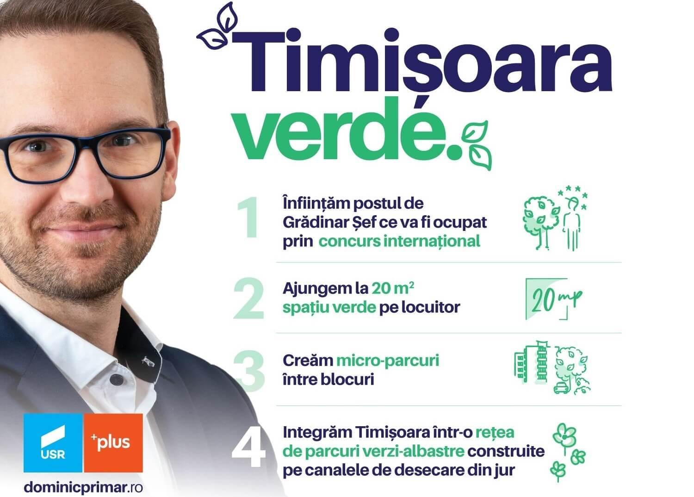 Timișoara verde. Planul lui Dominic Fritz și al Alianței USR-PLUS pentru zonele verzi ale Timișoarei