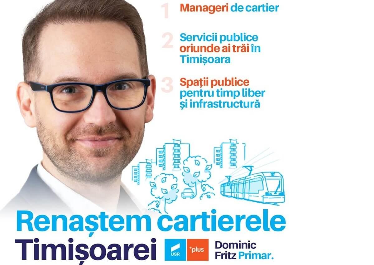 Timișoara, orașul cartierelor. Planul lui Dominic Fritz și al Alianței USR-PLUS pentru cartierele Timișoarei